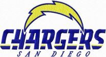 San Diego Chargers machine embroidery design