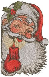 Santa with candle embroidery design