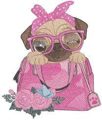 Secret of my purse embroidery design