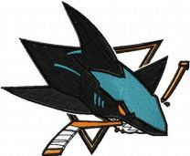 San Jose Sharks Logo embroidery design