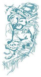Snow leopard half muzzle one color