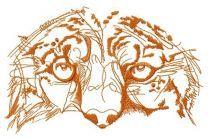 Snow leopard muzzle one color