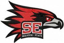 Southeast Missouri State University Redhawks logo embroidery design