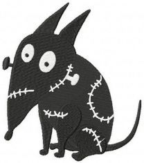 Sparky machine embroidery design