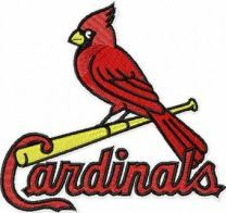 St Louis Cardinals logo machine embroidery design