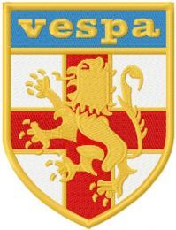 St George Vespa Shield logo machine embroidery design