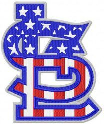 St. Louis Cardinals cap insignia machine embroidery design
