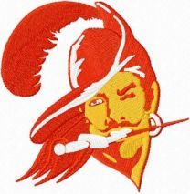 Tampa bay buccaneers old logo machine embroidery design