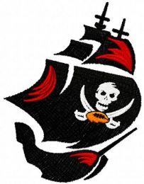 Tampa Bay Buccaneers Alternate Logo machine embroidery design