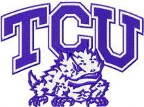TCU Horned Frogs Logo machine embroidery design
