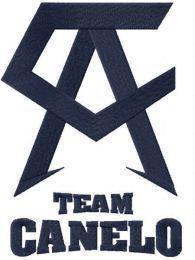 Team Canelo black logo embroidery design