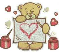 Teddy's painting machine embroidery design 2