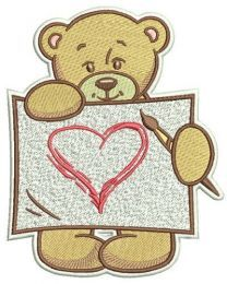 Teddy's painting machine embroidery design 4