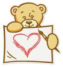 Teddy's painting machine embroidery design 5