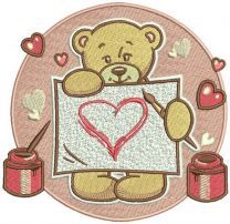 Teddy's painting machine embroidery design