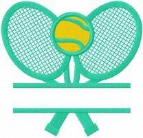 Tennis monogram embroidery design