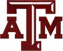 Texas A&M University logo embroidery design