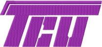 Texas Christian University alternative logo machine embroidery design