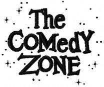 The Comedy Zone logo embroidery design