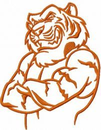 Tiger mascot embroidery design 8