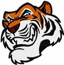 Tiger head embroidery design 3