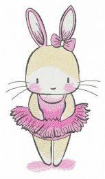 Tiny bunny ballerina
