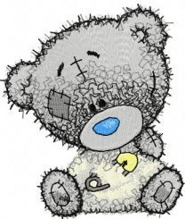 Teddy bear I dressed myself embroidery design