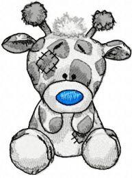 Twiggy Giraffe machine embroidery design