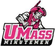 UMass Minutemen Logo machine embroidery design