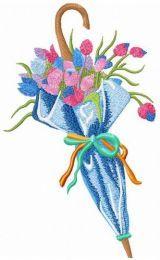 Umbrella with tulips