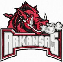 University of Arkansas logo embroidery design