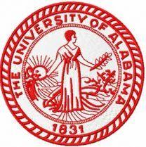 The University of Alabama classic logo machine embroidery design