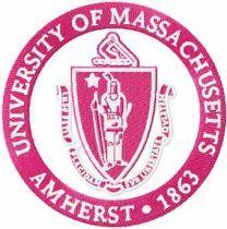 University of Massachusetts at Amherst Logo machine embroidery design
