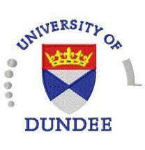 University of Dundee logo machine embroidery design
