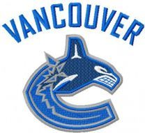 Vancouver Canucks logo machine embroidery design