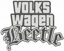 Volkswagen beetle stylish logo embroidery design