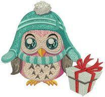 Warm hat machine embroidery design