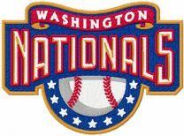 Washington Nationals logo machine embroidery design