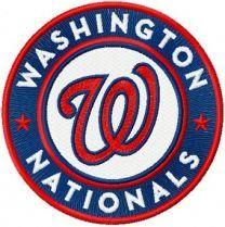Washington Nationals Logo round machine embroidery design