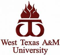 West Texas University logo embroidery design