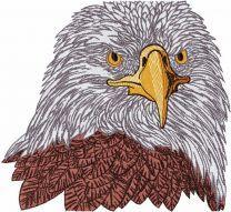 White eagle embroidery design
