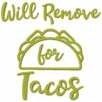 Will remove for tacos free embroidery design