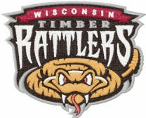 Wisconsin Timber Rattlers logo machine embroidery design