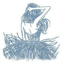 Young dancer embroidery design 2