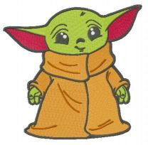 Young Yoda embroidery design