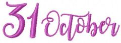 31 October 2 embroidery design