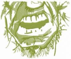 Incredible hulk face mask one color embroidery design