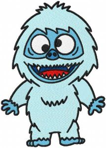 Abominable embroidery design