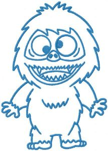 Abominable one color embroidery design