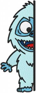 Abominable outside the door embroidery design